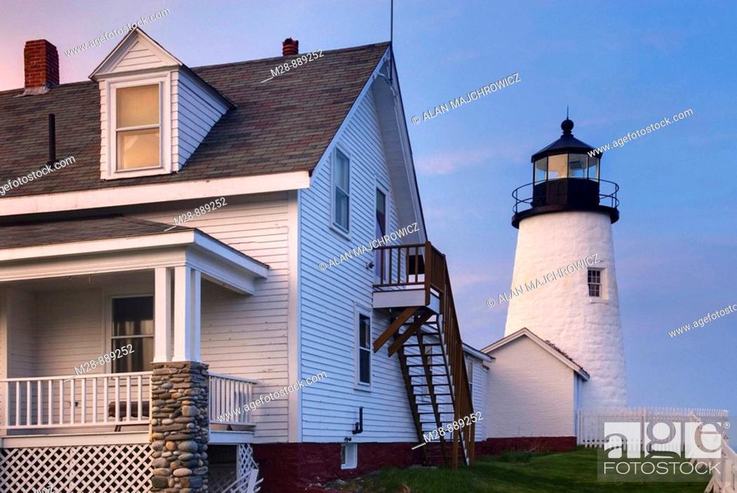 Stock Photo: Pemaquid Point Lighthouse, Bristol Maine USA.