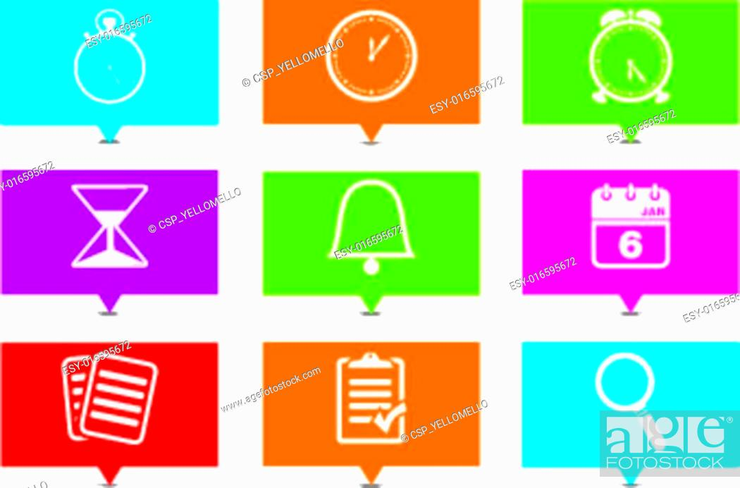Stock Vector: organiser rectangle pointers.