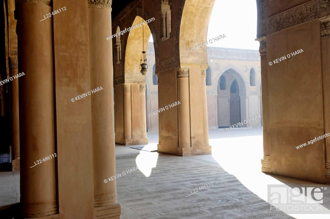 Stock Photo: The Mosque of Ahmad ibn Tulun completed in 879 AD on Mount Yashkur in a settlement named al-Qata'i by the founder of Egypt's  Tulunid Dynasty (868-905 AD).
