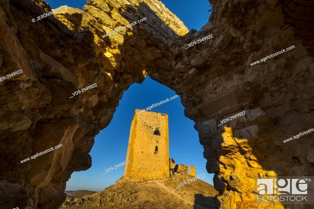 Stock Photo: La Estrella Castle, Teba. Málaga province, Andalusia. Southern Spain Europe.