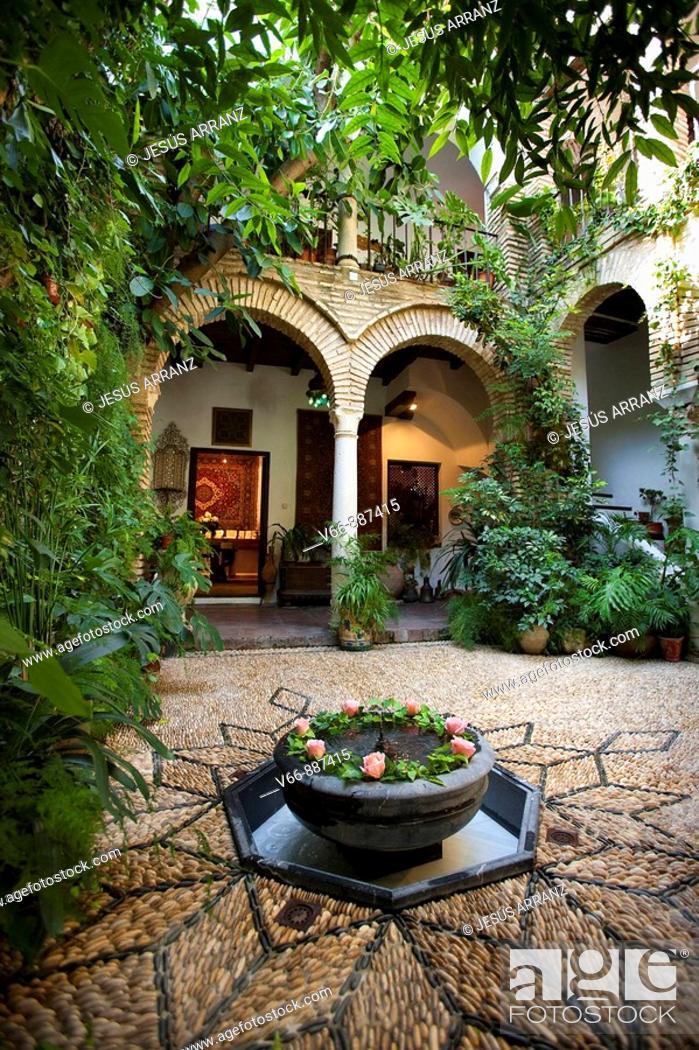 Stock Photo: courtyard house Andalusi, Cordoba.