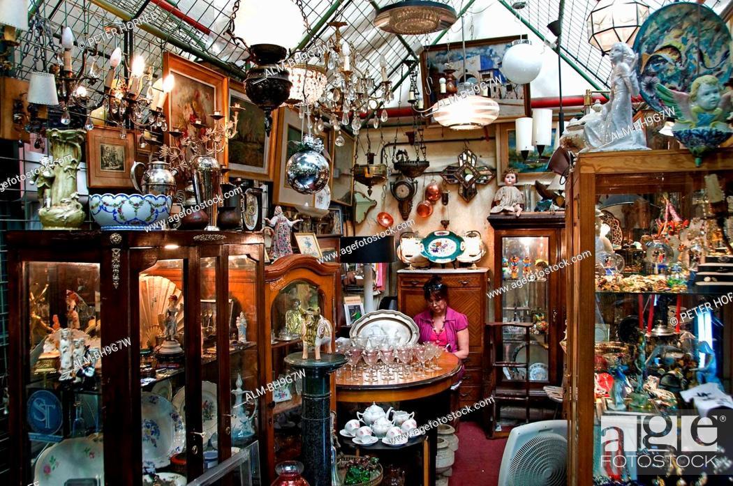 Stock Photo: Buenos Aires Argentina San Telmo Antique shop Flea Market.