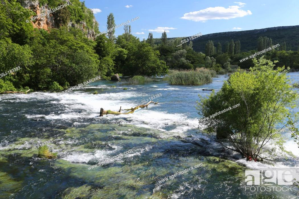 Stock Photo: River with rapids at Krka National Park, Croatia.