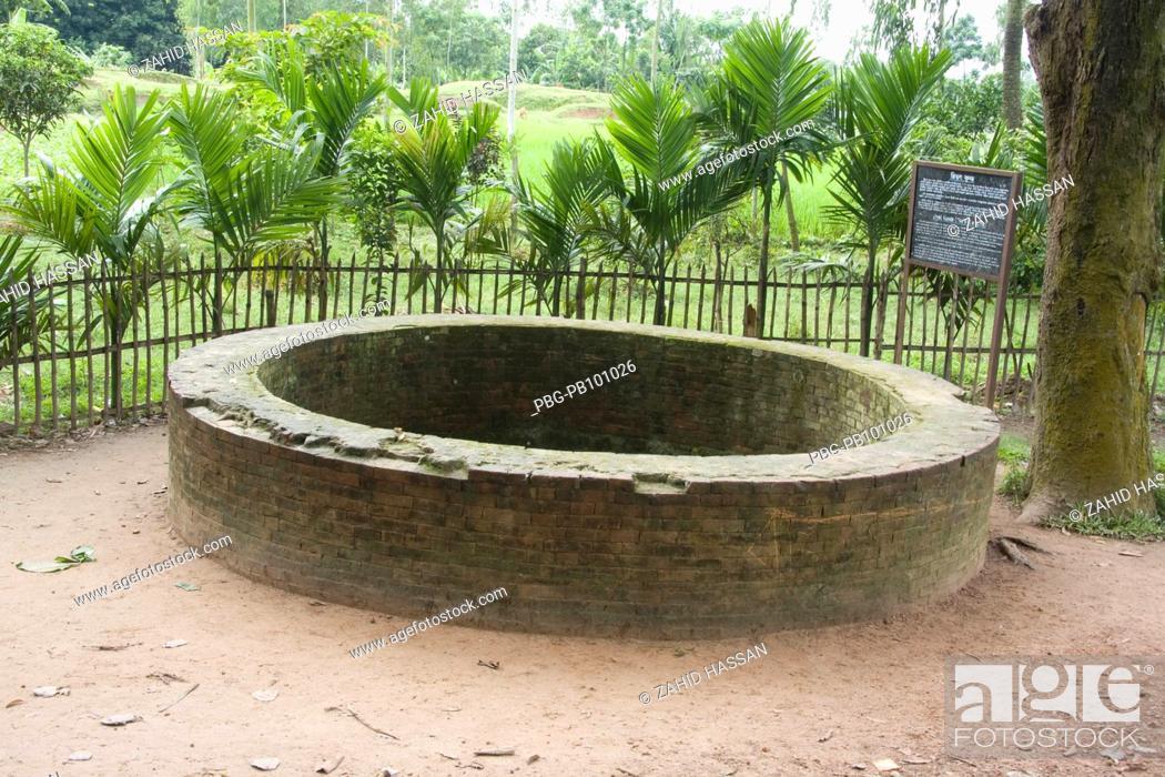 Stock Photo: Jiyat Kunda The well of life at Mahasthan Bogra, Bangladesh August 2008.