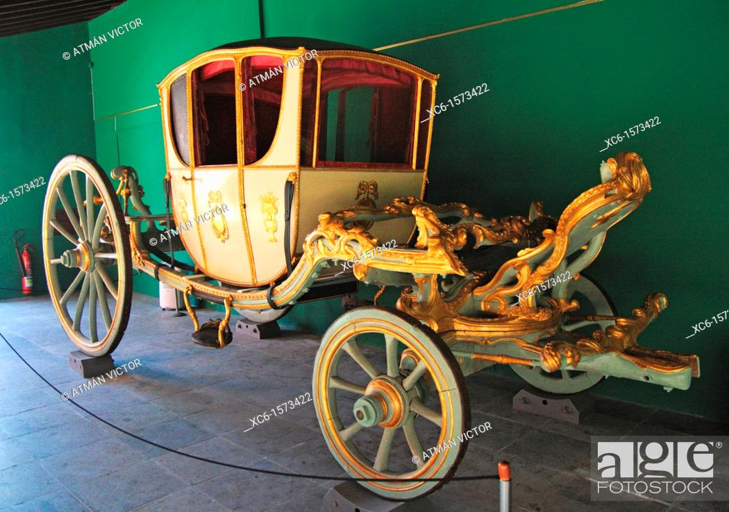 Stock Photo: Old carriage in the Museum of History in La Laguna, Tenerife, Canary Islands, Spain.