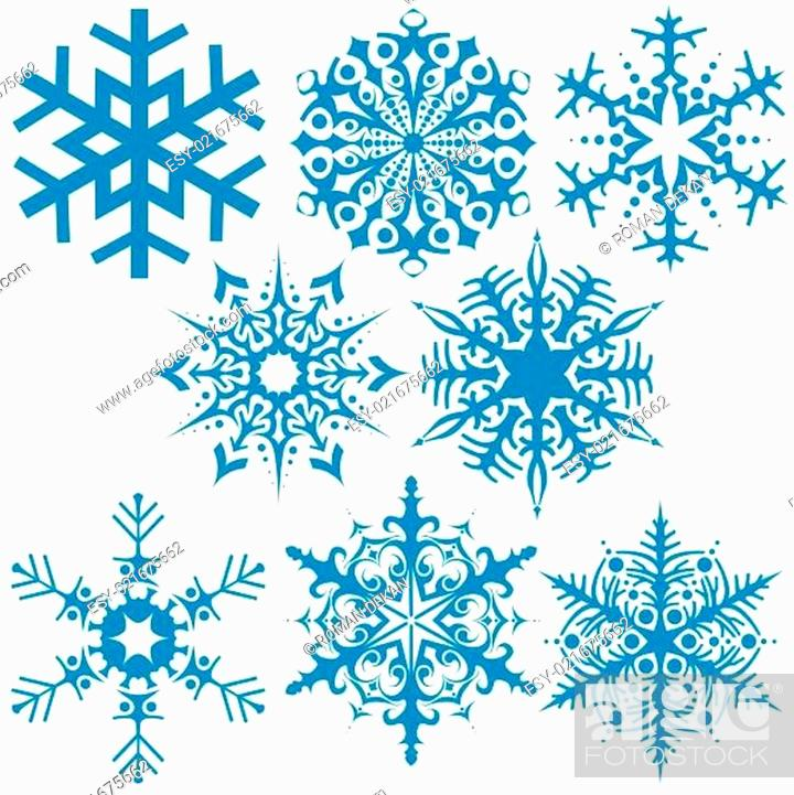 Stock Vector: Snowflake Collection.