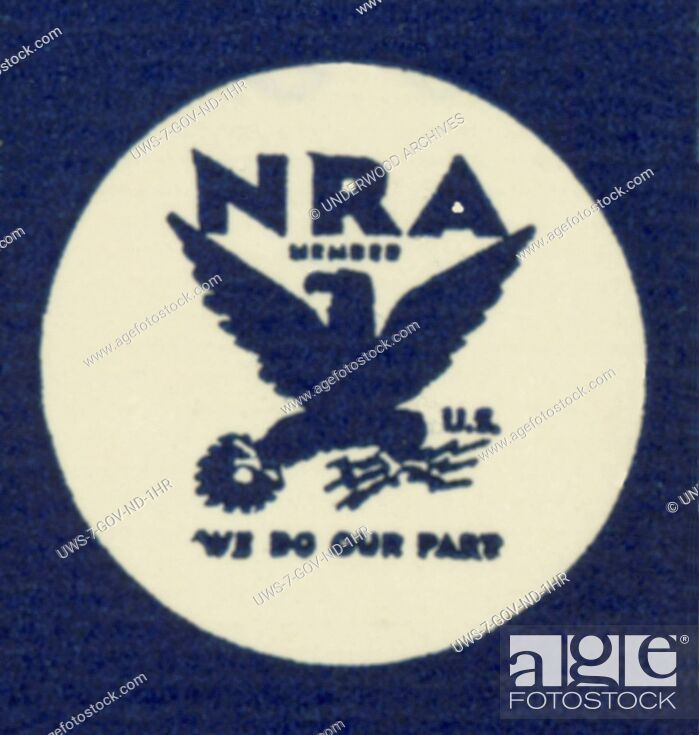 Stock Photo: Washington, D.C.: 1933.The logo for the National Recovery Act, part of the New Deal under President Franklin Roosevelt.