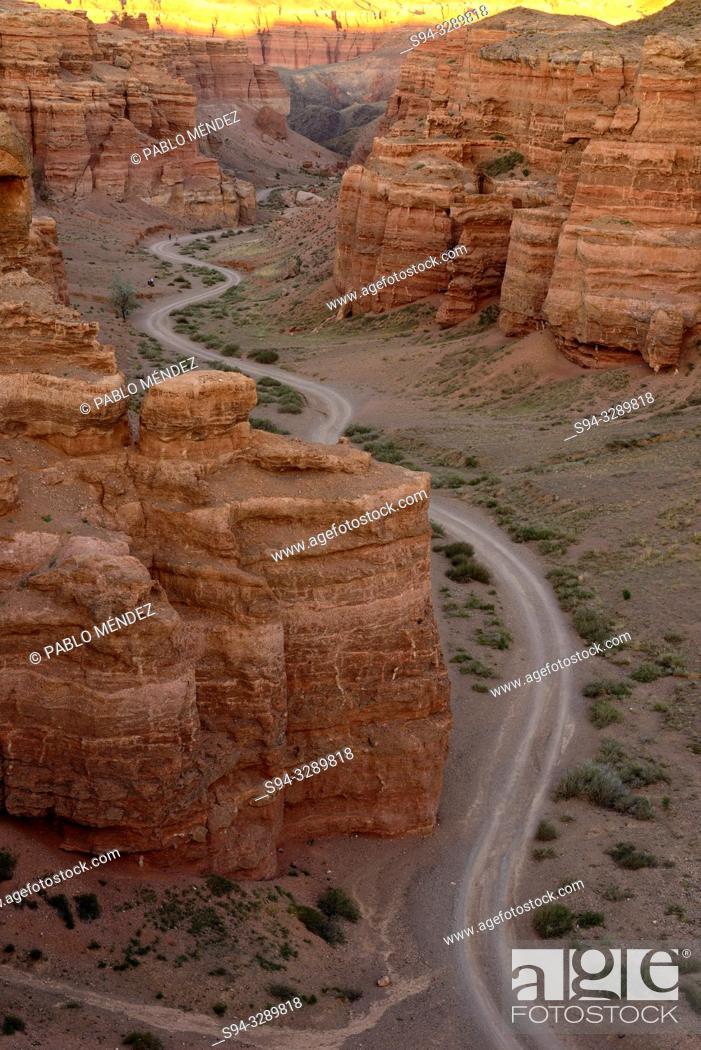 Stock Photo: Charyn Canyon landscape, Kazakhstan.