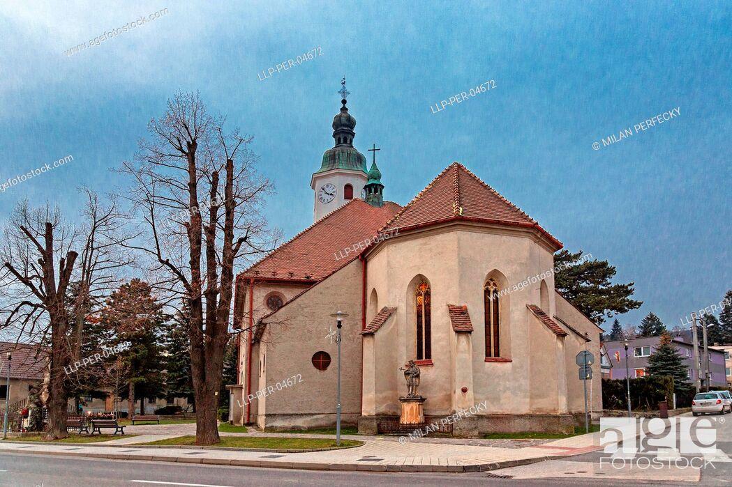 Stock Photo: Church of Saint Imrich, Casta, Slovakia.