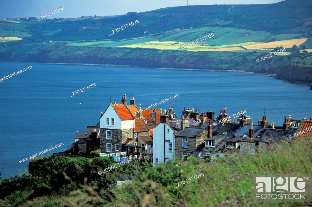 Stock Photo: Robin Hood's Bay, a small fishing village on the coast of North Yorkshire, England, UK.