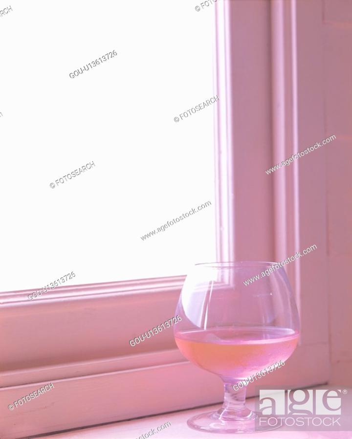 Stock Photo: food, beverage, pink, glass, juice, film.