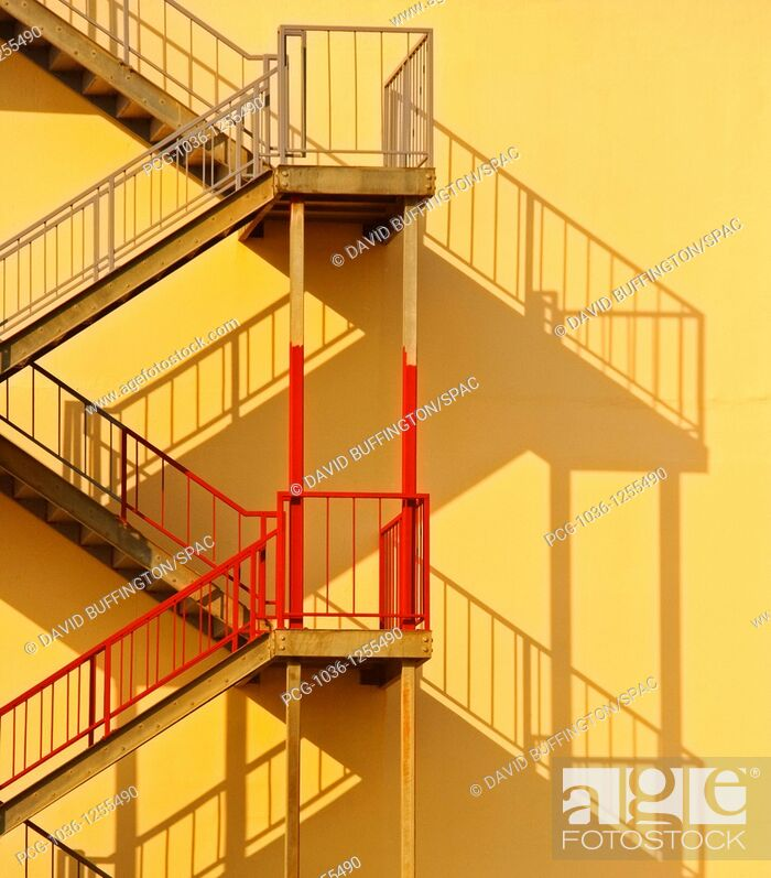 Stock Photo: Fire Escape and Shadow.