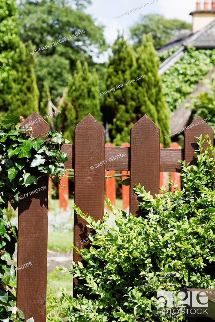 Stock Photo: Fence of a restaurant, Adare, County Limerick, Republic of Ireland.