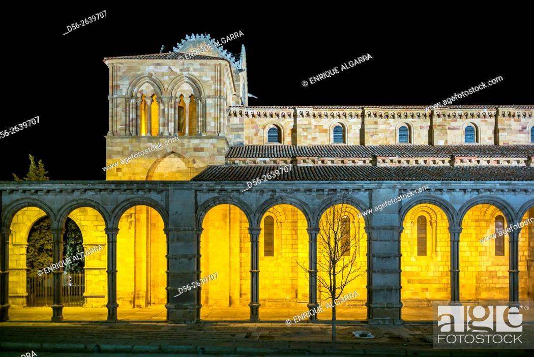 Imagen: San Vicente Basilica in Avila, Castilla y Leon, Spain.