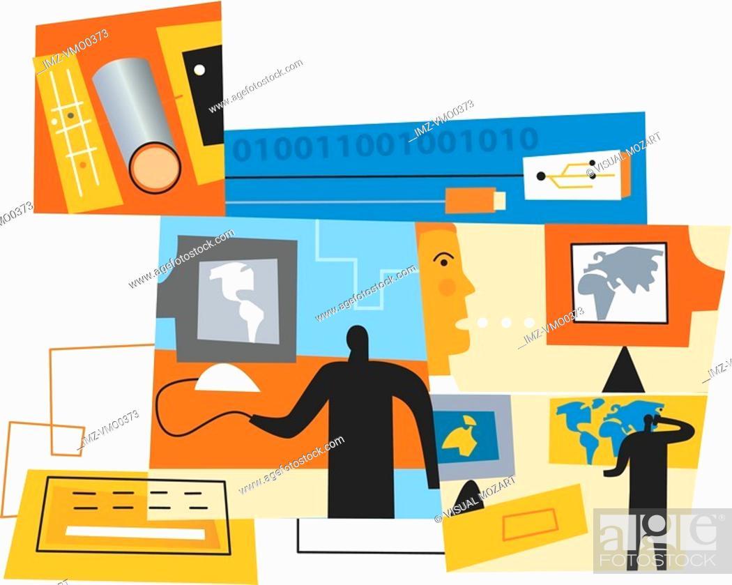 Stock Photo: An illustration of internet technology.