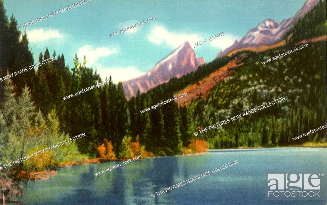 Stock Photo: Beaver Dick Lake, Grand Teton National Park.