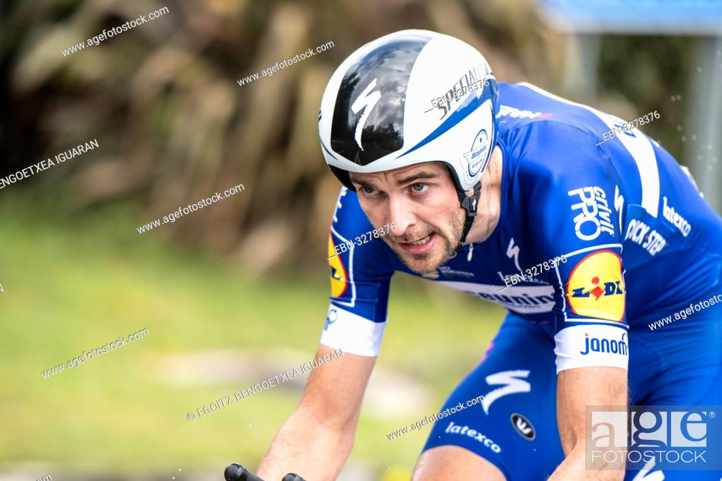 Imagen: Pieter Serry at Zumarraga, at the first stage of Itzulia, Basque Country Tour. Cycling Time Trial race.