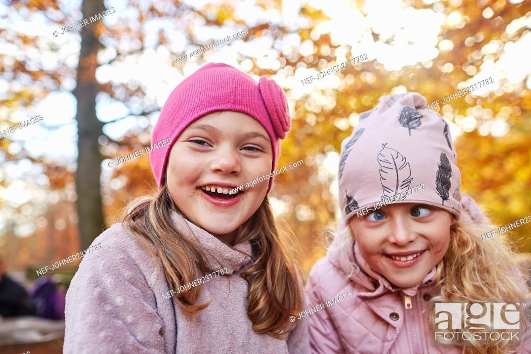 Stock Photo: Portrait of happy girls.