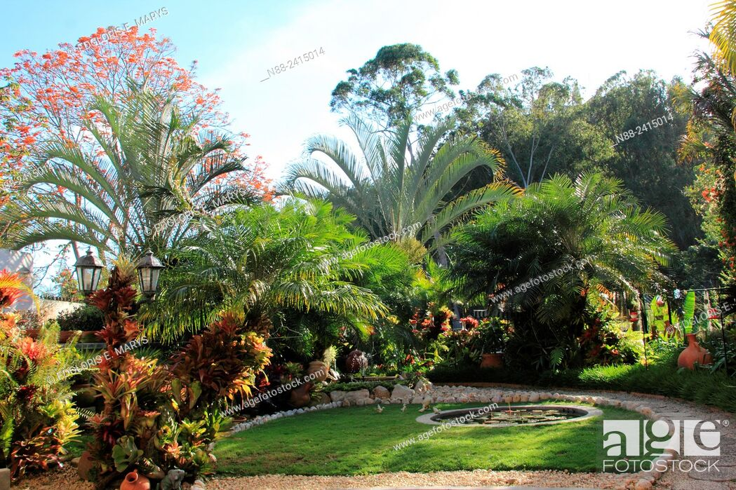 Stock Photo: Garden located in Caracas Venezuela.