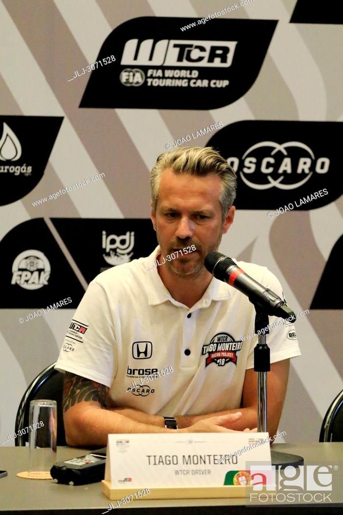 Stock Photo: WTCR2018: Vila Real. Tiago Monteiro announced his intention to return to racing almost a year since he suffered serious head.