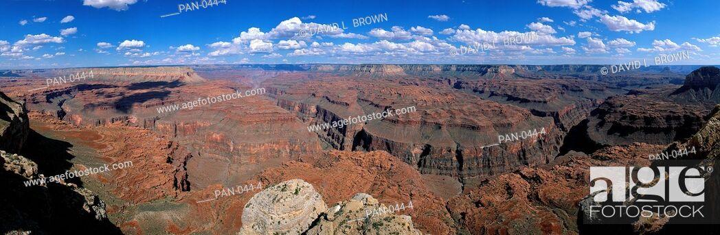 Stock Photo: View from North Rim, Grand Canyon National Park, Arizona, USA.