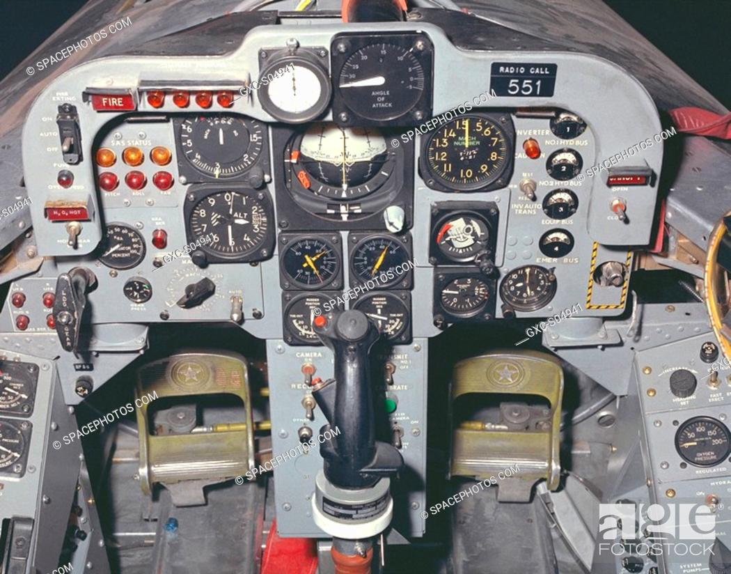 This photo shows the X-24B's cockpit instrumentation panel
