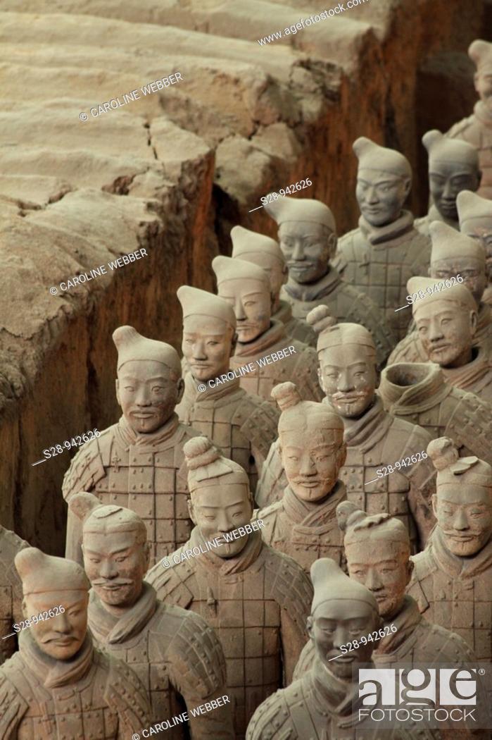 Stock Photo: Terra Cotta Warriors in Xi'an.