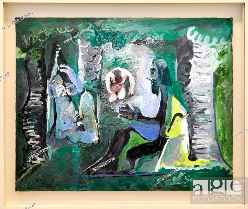 """Stock Photo: """"Le Déjeuner sur l'herbe d'après Manet"""", 1961, Pablo Picasso, Picasso Museum, Paris, France, Europe."""