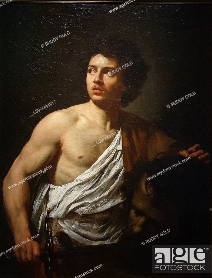 Photo de stock: 'David with the Head of Goliath', 1621, Simon Vouet (1590-1649).
