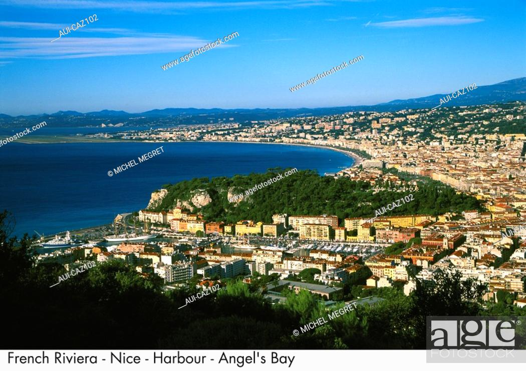Stock Photo: French Riviera - Nice - Harbour - Angel's Bay.