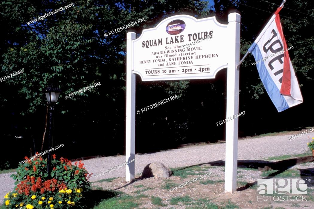 New Hampshire Holderness Nh Squam Lake Tours Sign Movie Location Of On Golden Pond Stock Photo Picture And Rights Managed Image Pic Foh U16744487 Agefotostock