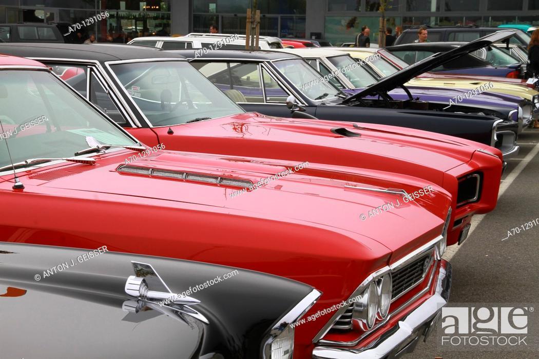 Stock Photo: us cars, switzerland.
