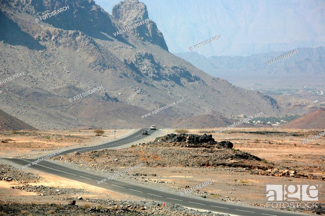 Stock Photo: desert, roads.