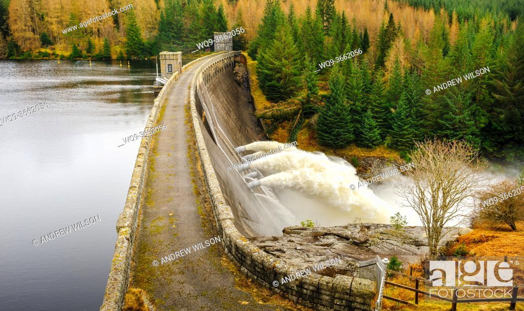 Stock Photo: Loch Laggan Dam, Scotland.