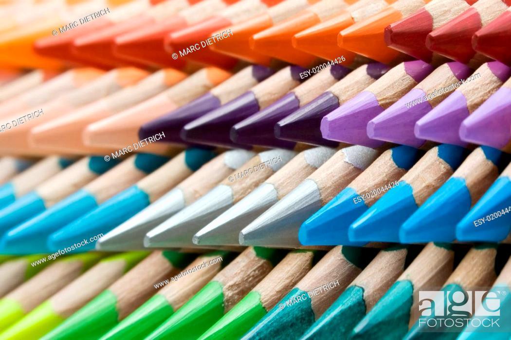 Stock Photo: Buntstift-Muster.