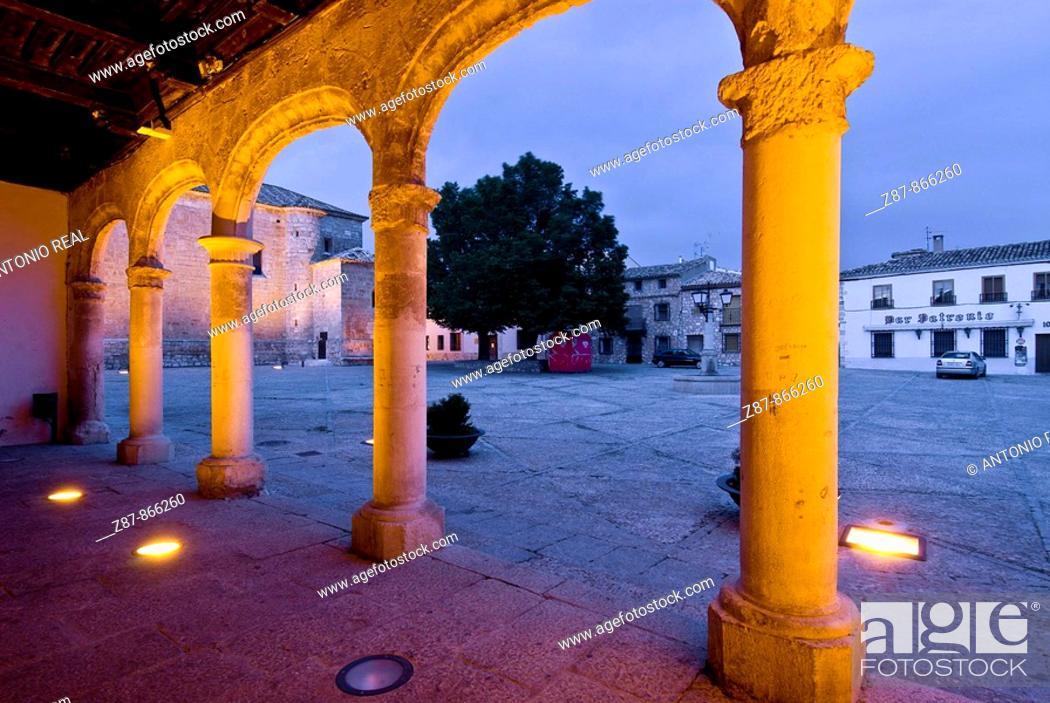 Stock Photo: Town Hall, Alarcon. Cuenca province, Castilla-La Mancha, Spain.