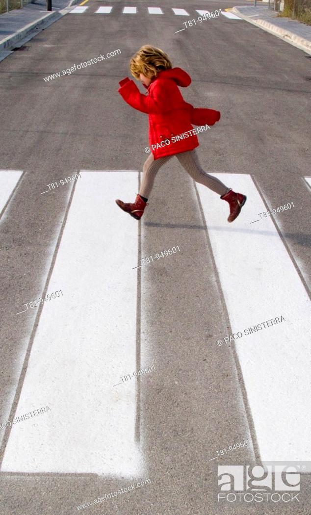 Stock Photo: girl, going,.