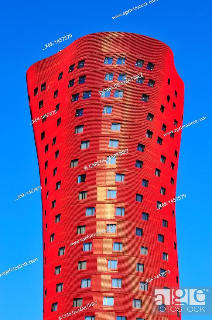 Stock Photo: Hotel Porta Fira by Toyo Ito, L'Hospitalet de Llobregat, Barcelona province, Catalonia, Spain.