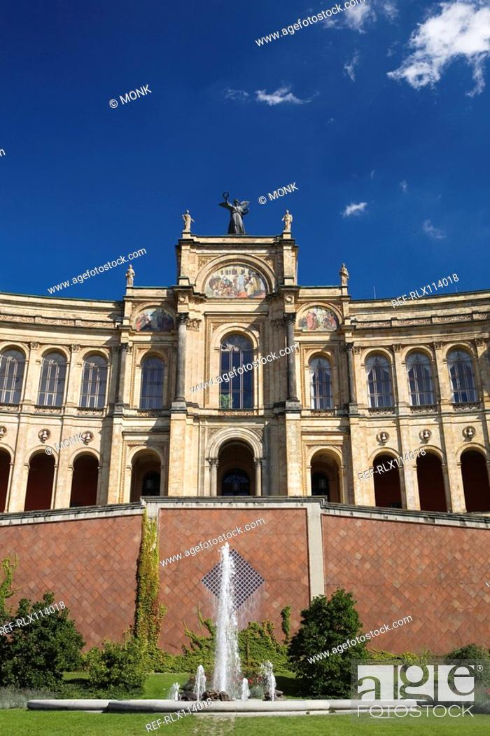 Stock Photo: Maximilianeum in Munich, Bavaria, Germany.