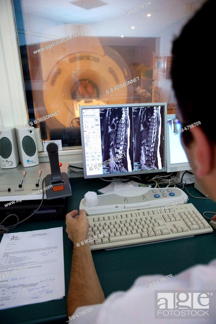 Stock Photo: Photo essay at the hospital of Meaux, France. Department of medical imagery.