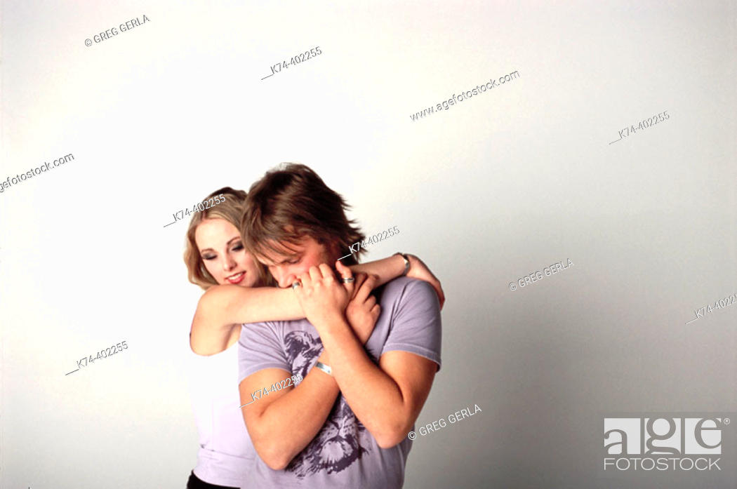 Stock Photo: image of young couple embracing.