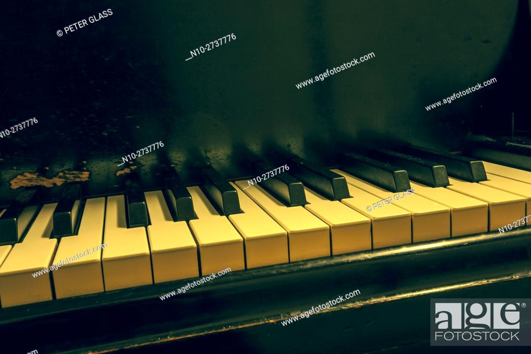 Stock Photo: Keys of an old piano.