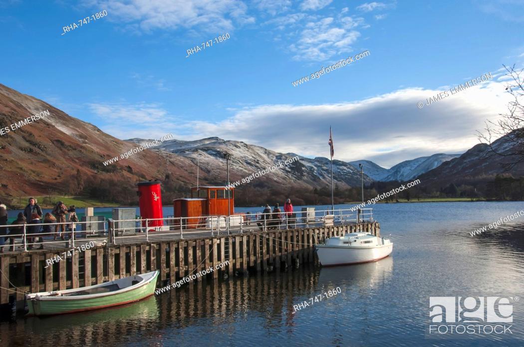 Stock Photo: Glenridding Boat Landing, Lake Ullswater, Lake District National Park, Cumbria, England, United Kingdom, Europe.