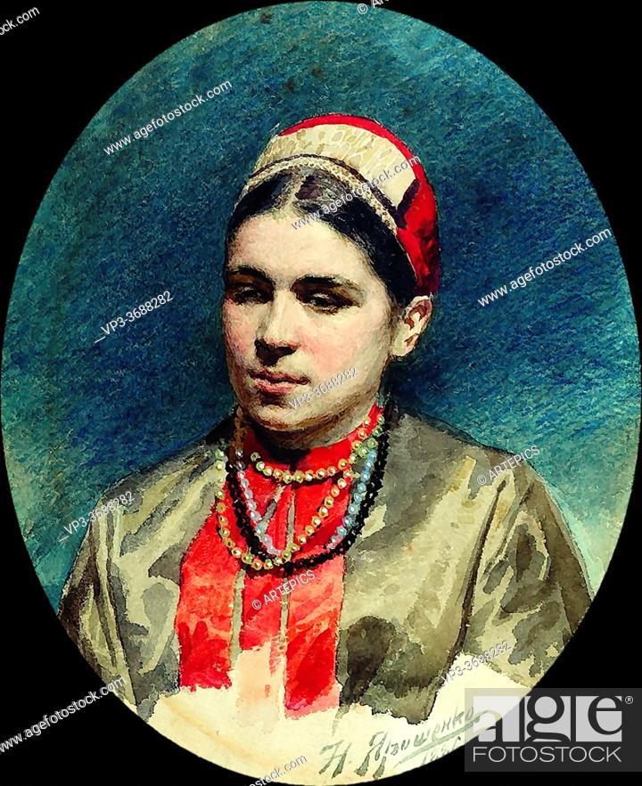 Imagen: Yaroshenko Nikolai - Portrait of the Actress Pelageya Strepetova - Russian School - 19th and Early 20th Century.