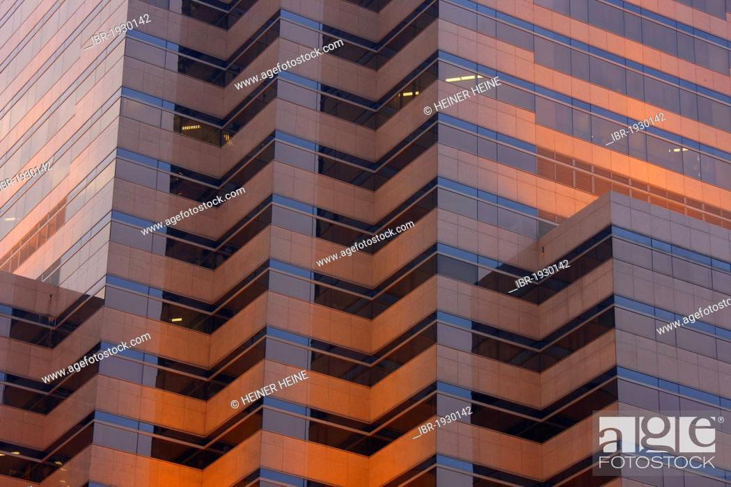 Facade of the Petronas Towers, evening light, Kuala Lumpur
