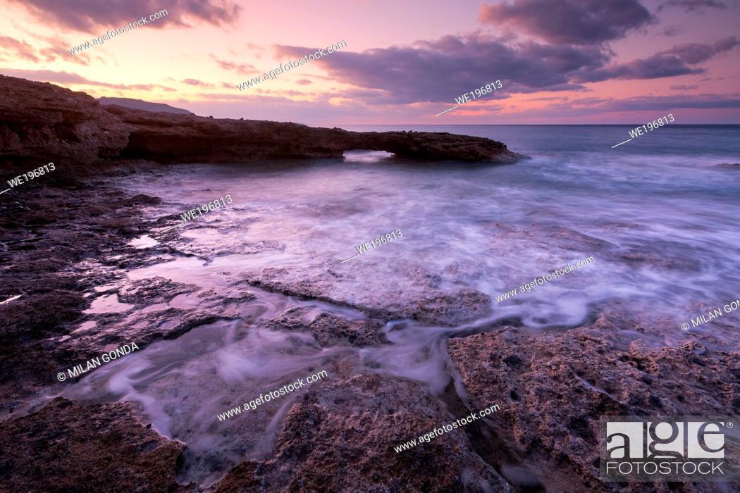 Stock Photo: Morning seascape taken on Atherina beach near Goudouras village, Crete.