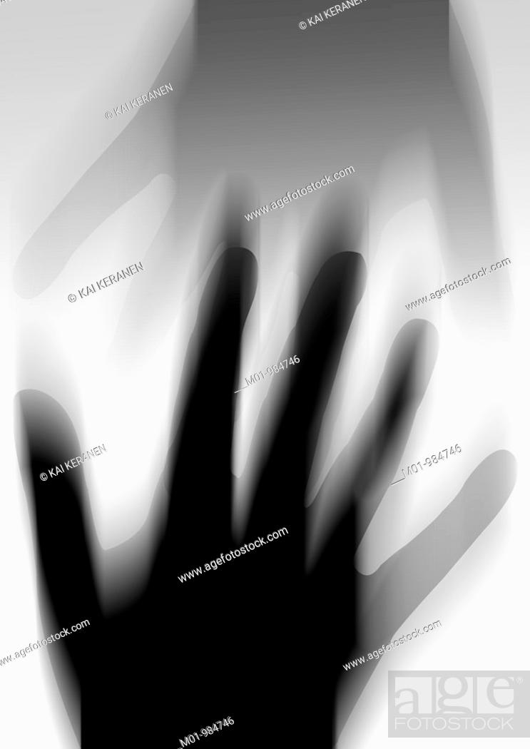 Stock Photo: Silhouette of hand.