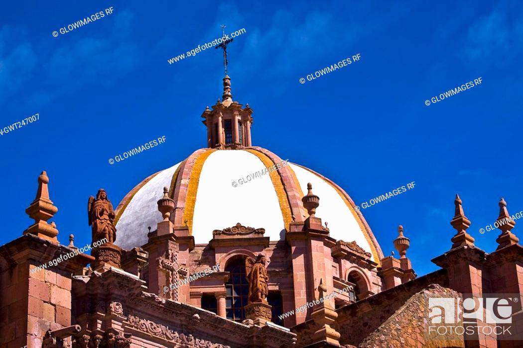 Stock Photo: Low angle view of a cathedral, Catedral De Zacatecas, Zacatecas, Mexico.