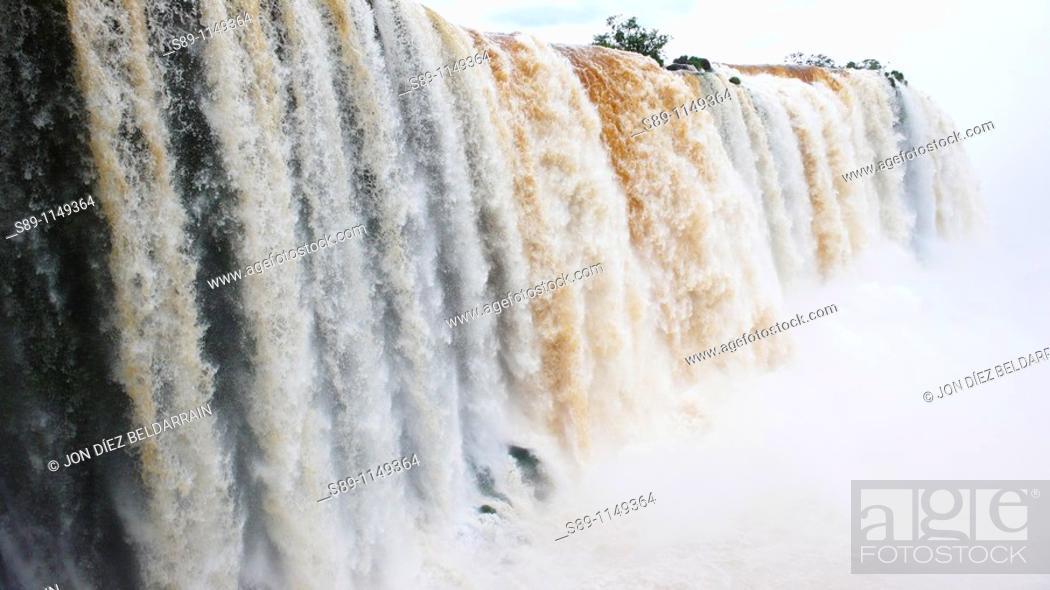Stock Photo: Argentina Iguazu Falls.