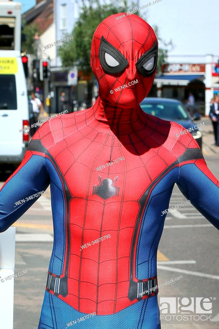 Huge crowd turned out to see Tom Holland filming for the new